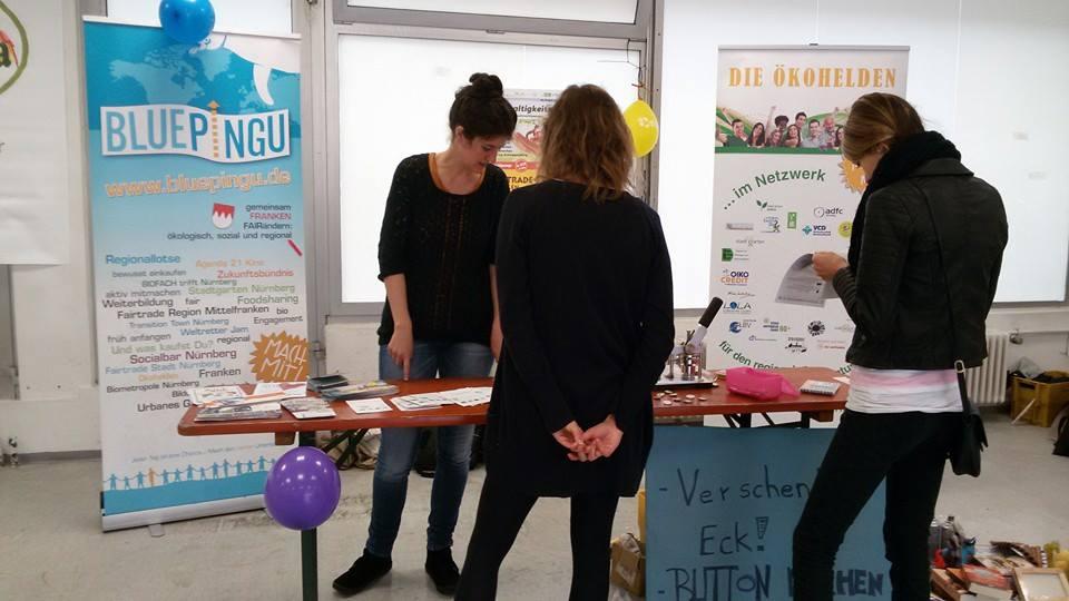 Nachhaltigkeitstag Erlangen 2014 - Bluepingu Stand