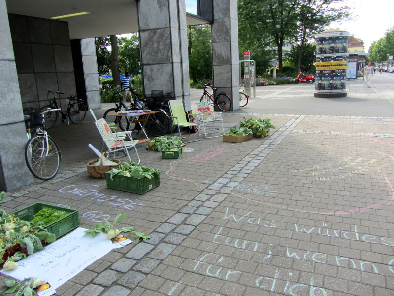 Utopie-Aktionstag in Erlangen unser Platz