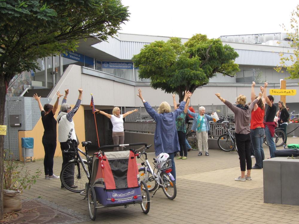 Nachhaltigkeitstag Erlangen - Yoga Schnupperkurs